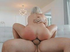 Hot mom rides like she's a goddess of porn