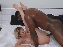 Merciless interracial after a bath with Khloe Kapri