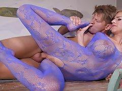 Perfect blonde in foot fetish XXX scenes