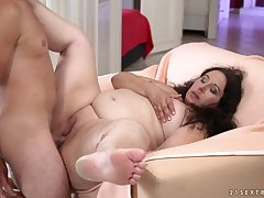 Meaty mature cunt of chunky old slut Lila Tuft is stretched missionary