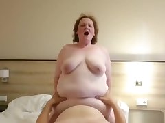 Fat Granny Lola Likes About Ride Her Sultry Hubby!