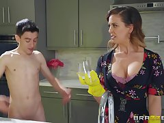 Cherie Deville gets fucked by hard friend's penis to the fullest extent a finally she screams