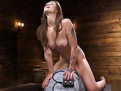 Tied thither spreaded unilluminated fucks machine