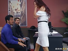 Monique Alexander gets her pussy filled on every side hard and strong boner