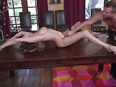 Crucified whore Pristine Asset deserves mindless lock up some rough anal