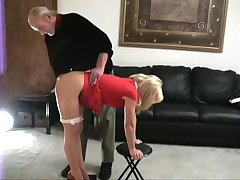 Katie spanked bare bottom