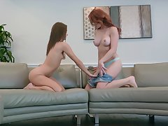 Zoe Bloom & Molly Stewart playing truth or dare make void up having sex