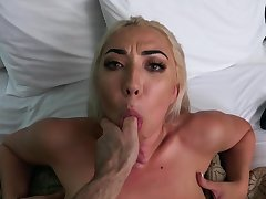 Blonde with flaked-out ass, first POV on cam