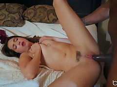 Enlivened love diet with a black stud and hot Jane Wilde