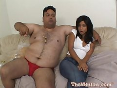 Dirty chunky guy not far from a small dick bangs hot model Olivia Winters