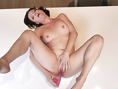 Prurient delight in solo masturbation XXX with a clamminess woman