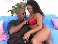 Cute black Freulein Charlie Rae develops passionate sexual affair with her lover
