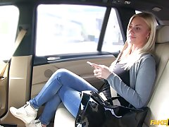Monumental car fucking for foxy blonde tart Nathaly Cherie