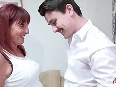 AgedLovE Mature Lassie Riding Youngster Cock Hard